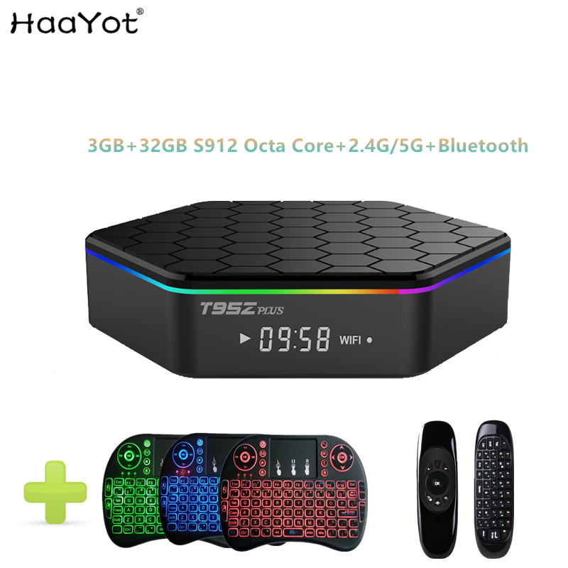 HAAYOT T95Z Plus TV Box Android 7.1 Amlogic S912 64 bit Octa core 3GB 32GB 2.4G+5G Wifi BT4.1 1000M 4K Set-top Box Media Player