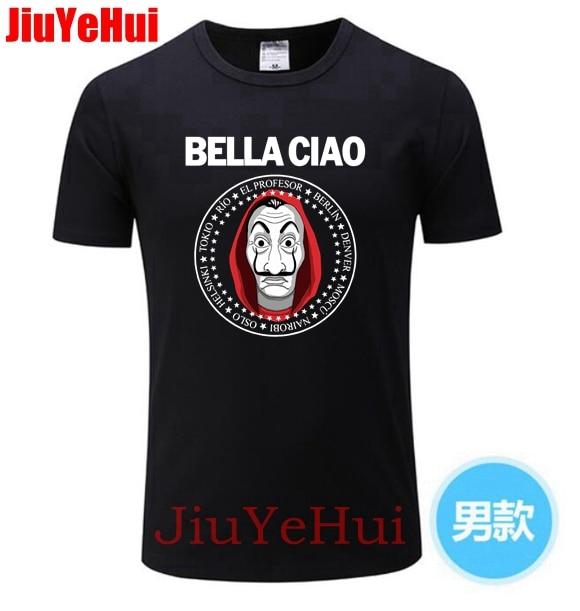 Brand New House of Paper Money Heist La Casa De Papel   T     Shirt   Short Sleeve   T  -  shirt   For Men Plus Size Cotton Team Tee TShirt