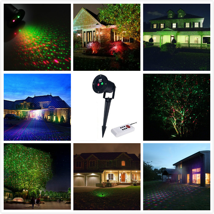 ФОТО IP67 High quality outdoor laser light EU plug Christmas Projector dj laser light christmas Party Weeding lights