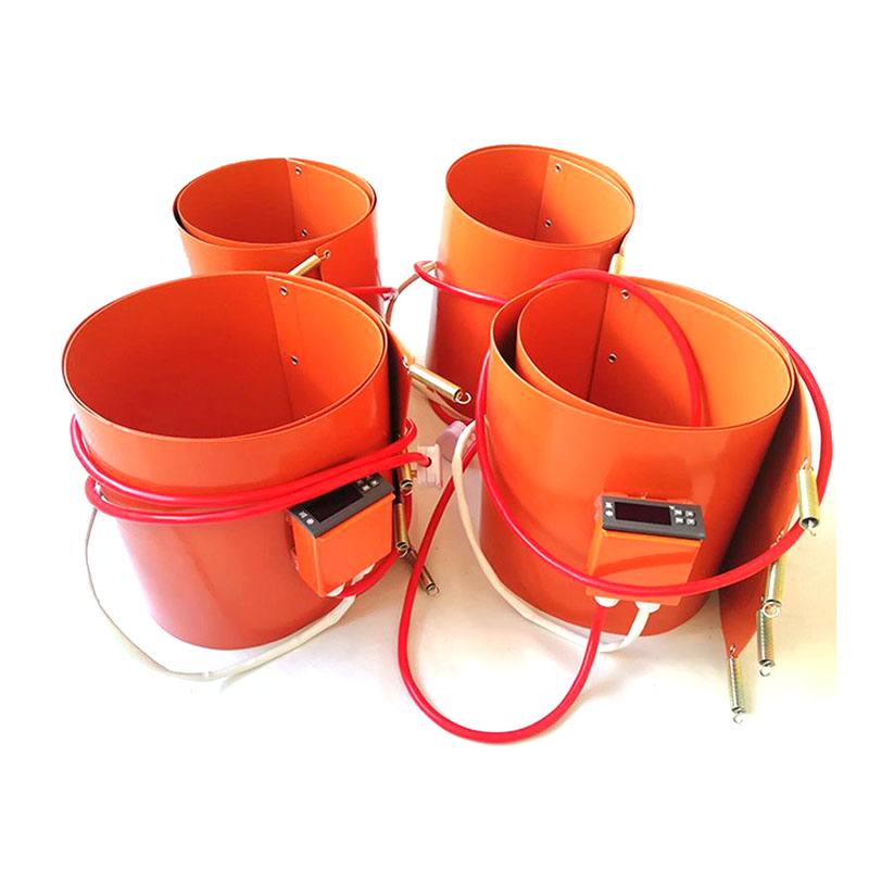 125*1740*1.5mm Silicone Drum Heater  For Oil Barrel  230v 1000w  Digital Thermostat On Wire  1500mm Lead Wire