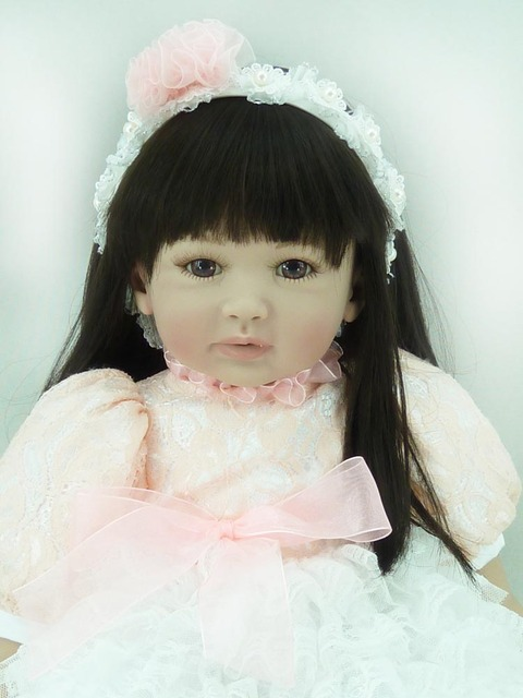 2015 New commodity 55cm Silicone Vinyl Reborn Baby Doll fashion high grade clothes toys birthday gifts