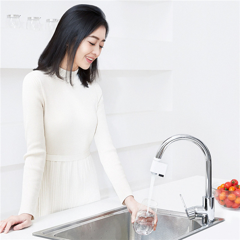 cheapest Youpin xiaoda Smart Sensor Faucet Infrared Sensor Automatic Water Saver Tap Anti-overflow Kitchen Bathroom Inductive Faucet