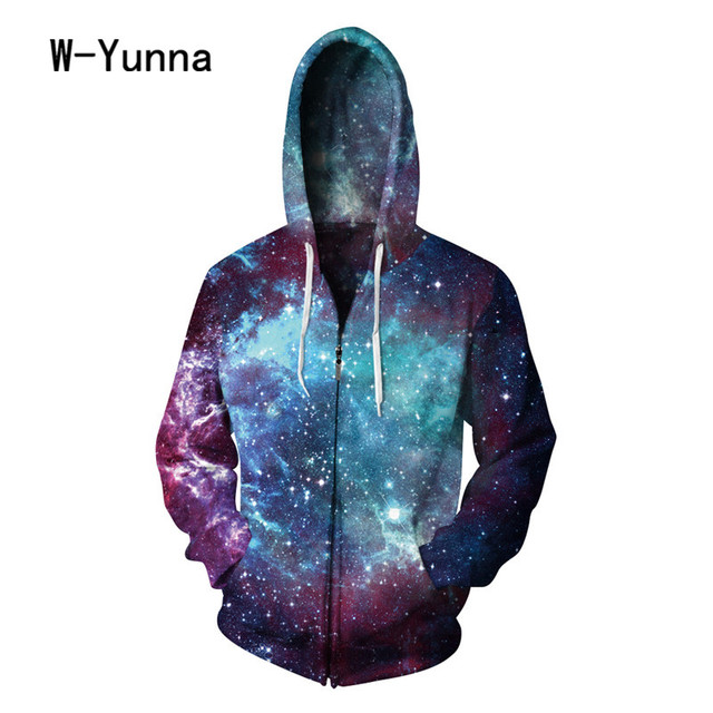acb973ef869 W-Yunna Galaxy Print Girls Autumn Sweatshirts Unisex Hip Hop Moletom  Feminino Fashion Streetwear Sudadera Mujer Hooded Coats