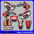 FREE SHIPPING CRF 250 2006 2007 2008 2009 ANTI UV SCRATCH RESISTANT GRAPHICS BACKGROUND DECALS STICKERS SETS OFF ROAD MOTORCYCLE