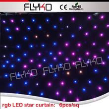 3x4m wedding mandap backdrop  LED star curtain
