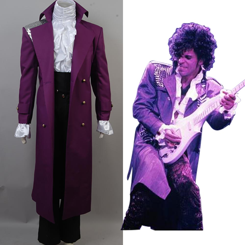 Prince Rogers Nelson in Purple Rain Coat Costume Cosplay For Men ...