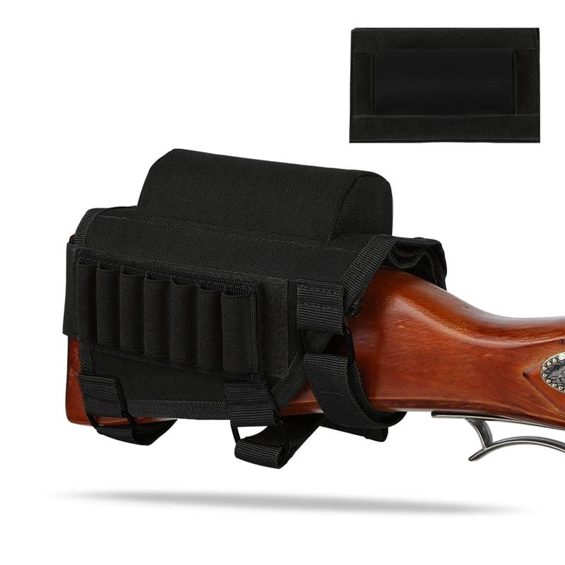 New Tactical Hunting Shotgun Rifle Shell Butt Stock Ammo Holder Pouch Cheek Pad