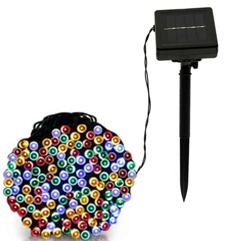 decorative lighting 7M 12M 22M 50/100/200LEDs Waterproof Outdoor garden led solar light