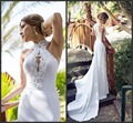 Wedding Dresses 2017 High Collar Beaded Pearls Neckline Sheath Court Train Bridal Gowns Vestido De Noiva