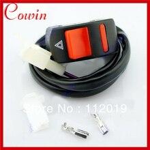 5 шт/лот, мотоциклетный руль, кнопка включения/выключения для аварийной ситуации, аварийный светильник Предупреждение йная лампа, мощность 2 провода