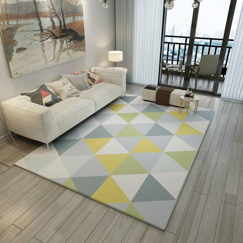 Tapis simples pour salon géométrique abstrait grand tapis antidérapant tapis enfants chambre décor à la maison chambre Rectangle tapis - 3