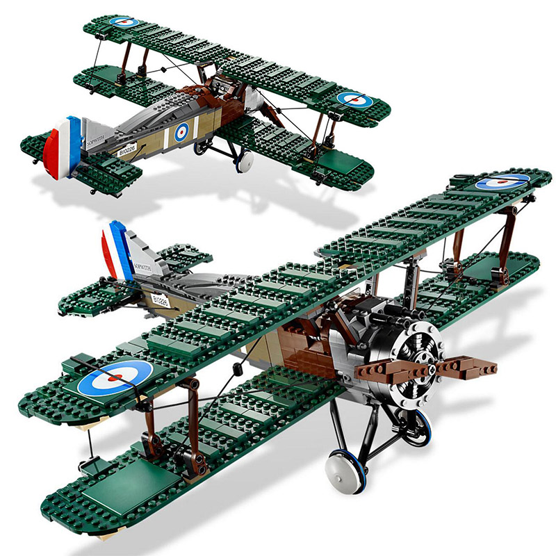 LEPIN 21021 Create Series Sopwith Camel 10226 Biplane Aircraft Building Blocks 953pcs Bricks Toys Gift For Children 21021 953pcs genuine technic series the camel fighter set children educational building blocks bricks toys model 10226 lepin