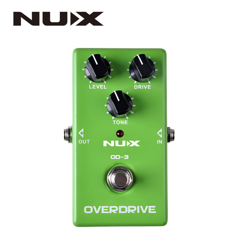 ФОТО NUX OD-3 Overdrive Electric Guitar Effect Pedal Ture Bypass Green High Quality Guitar Effect Pedal