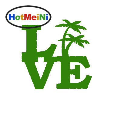 HotMeiNi Palm Tree Love Sticker Window Bumper Door Beach Island Ocean Vacation Tropical Plants flower Rainforest Vinyl Decal hot