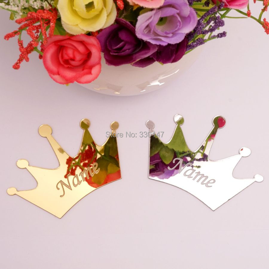 25pcs 3cm mirrored crown personalized name acrylic mirror sticker 3d 25pcs 3cm mirrored crown personalized name acrylic mirror sticker 3d diy customized gifts for wedding decoration crafts in wall stickers from home garden izmirmasajfo