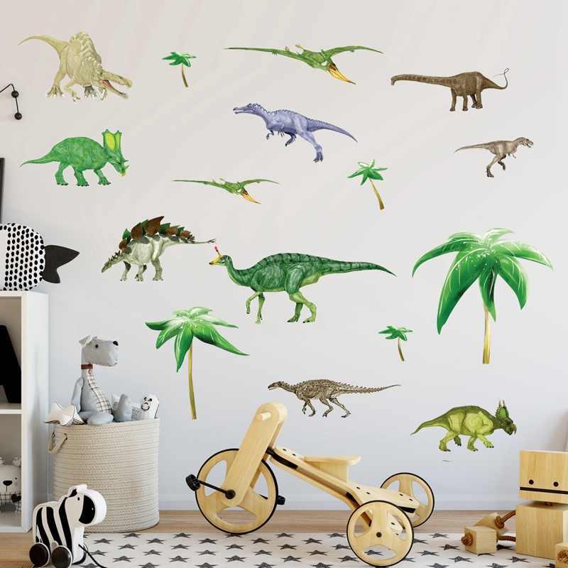Zs Sticker 130 Cm 51 Inch Dinosaurs Kids Room Children Vinyl Dino Wall Stickers Baby Boy Nursery Decals