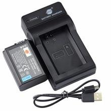 Dste np-fw50 cargador de batería + udc107 usb para sony nex-7 nex-5n nex-f3 nex-6 nex-5r nex-3 nex-3a nex-3d