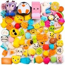 Random 50 Pcs Squishies Cream Scented Slow Rising Kawaii Simulation Lovely Toy Jumbo Medium Mini Soft Squishies, Phone Straps