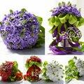 Свадебный букет 4 цвета свадебные цветы свадебные букеты свадебные платья 2015 великолепная buque де noiva дешевые бесплатная доставка WF006