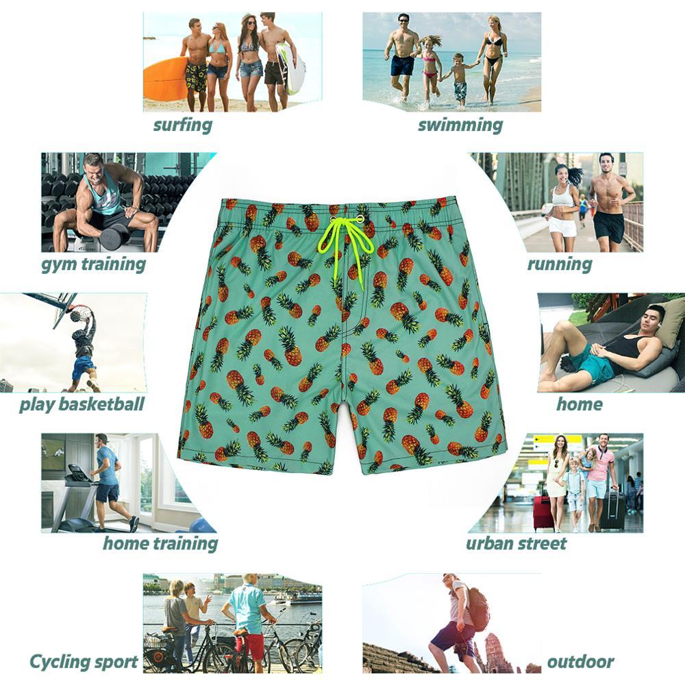 Men/'s Swim Trunks Rainbow Hair White Unicorn Beach Board Shorts Swimming Short Pants Running Sports Surffing Shorts