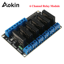 6 Channel Relay Module High Level Trigger 5V 2A Solid State