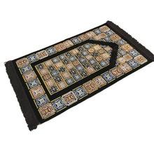 XHX888 Islamic Muslim Prayer Carpet Plaid Rug Two Color Tapete Pilgrimage Blanket Banheiro Salat Musallah Praying mat