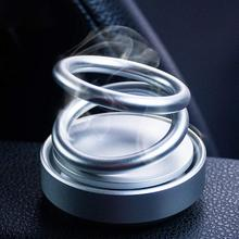 Dual-ring Rotating Aromatherapy Car Air Fresher Solid Perfume Interior  Purifier
