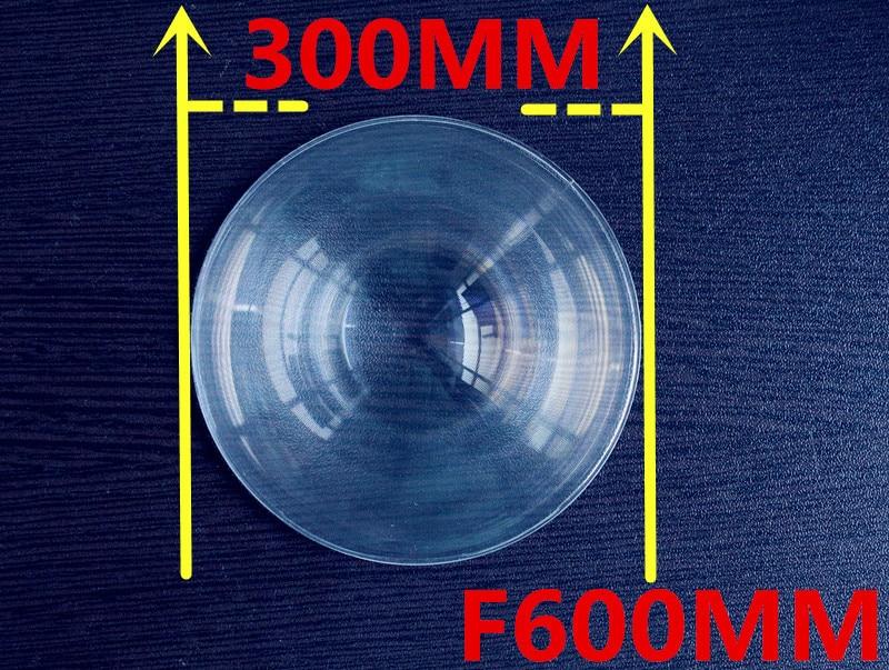 PMMA Round Lens Diameter 300 mm Fresnel Lens Focal length 600mm Solar concentrator High light condenser used Plane enlarge  цены