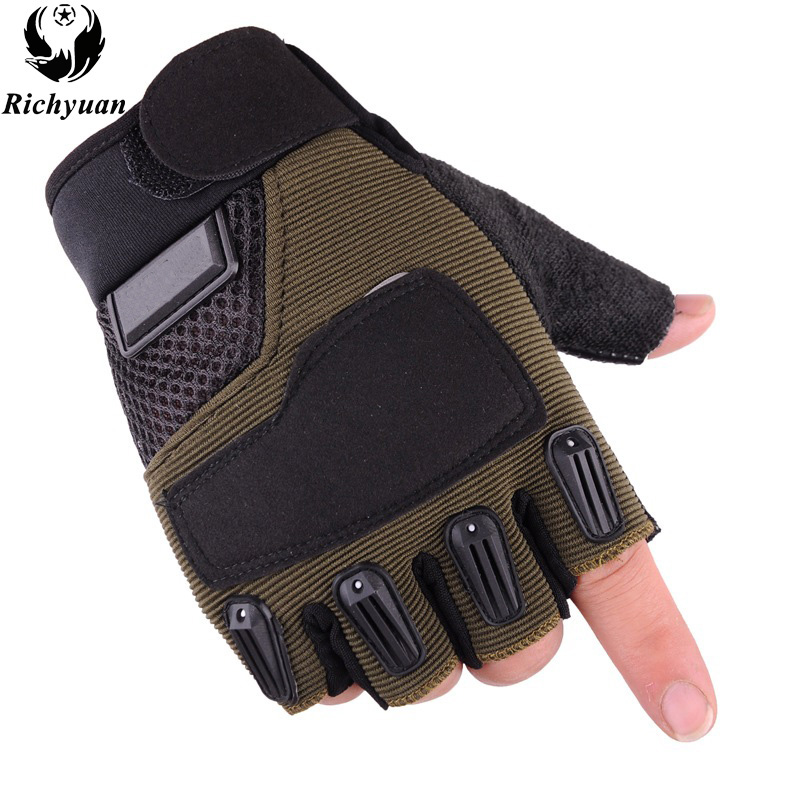 Military Army Anti-Slip Silicon Gloves Outdoor Sports Mittens Mens Women Cycling