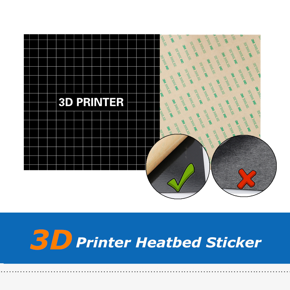 235mm*235mm Print Square Hot Heat Bed Sticker Frost Sheet For Ender-3 3D Printer