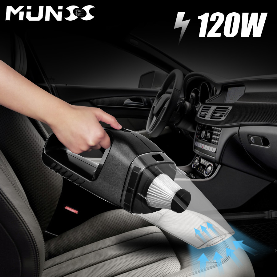 2018 120W MUNSS Mini Car Vacuum Cleaner Car Cleaner Handheld Portable 12V Powerful Auto  ...