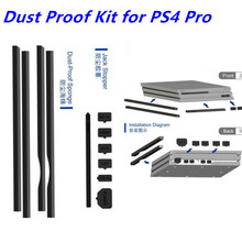 2017 Newest DIY Dust-Proof Kit Dust Prevent Cover Jack Stopper Pack Dustproof Kit For PlayStation 4 Pro PS4 Pro Gaming Console 3cleader® dust proof dust prevention cover case mesh jack stopper pack kits for playstation 4 ps4 gaming console