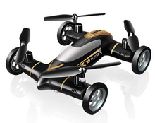 Black Color Profession Syma X9 Fly Car 2.4G 4CH Remote Control RC Quadcopter Helicopter Drone – Land & Sky 2 Function