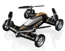 Черный Цвет профессии SYMA x9 Fly Car 2.4 г 4ch Дистанционное управление RC Quadcopter Вертолет Дрон-Земля и небо 2 функция
