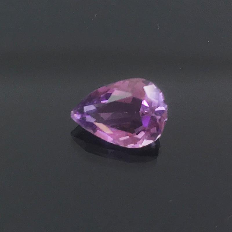 Pear cut 7 mm * 9 mm natural amethyst loose gemstone 1.5 ct VVS grade amethyst loose stone Jewlery DIY