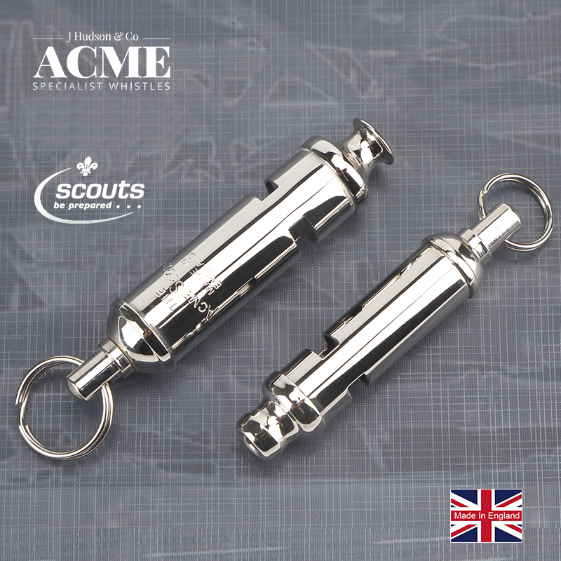 ACME SCOUT49.5/47.5 Girl Scout Metal Seamless Welding Whistle Laser Lettering Fashion Accessories Pendant Hanging Chain Whistle