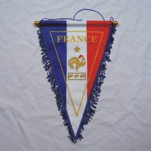 wholesale France national football team pennant  pennant & hang flags /  home sitting room  triangle flag with a pole