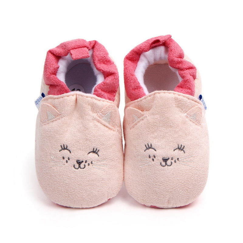 Lovely Cotton Newborn Baby Shoes Cute Infant Girls Boys First Walkers Flats Soft Shoes Toddler Crib Shoes  Free Shipping