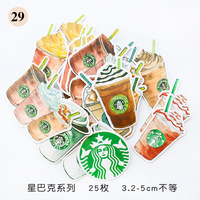 1Pcs/Sell Coffee pattern Stationery Stickers Pack Posted It Kawaii Planner Scrapbooking Memo Stickers Escolar School Supplies Stationery Stickers