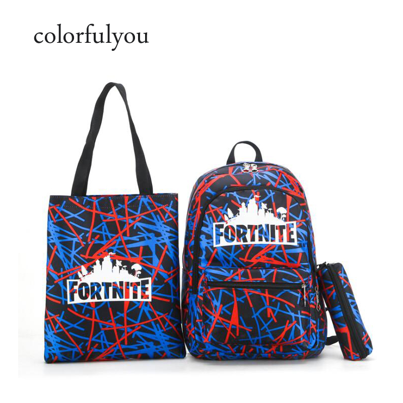 2019 3pcs set Fashion Backpack School Bags Geometric pattern printing  backpack for Teenagers Girls and boys Casual Travel Bag d70a58329173a