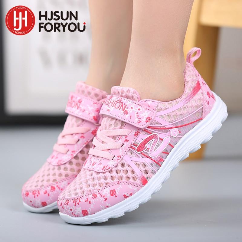 2019 Wiosna Lato dzieci oddychające trampki wygodne siatkowe buty sportowe buty moda na co dzień chłopców buty różowy fioletowy biały