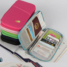 Travel Wallet Organizer for Passport, Credit Cards and Documents