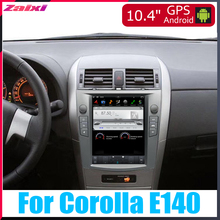 ZaiXi 10.4 Tesla Type Android For Toyota Corolla E140 2007~2012 Car DVD Player Navigation GPS Radio Multimedia system