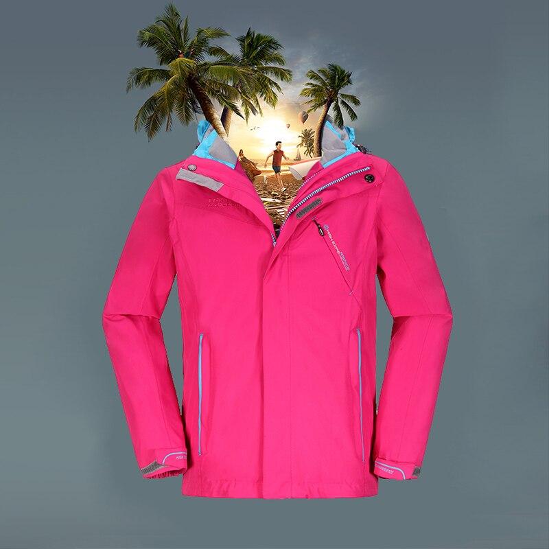 High Experience 2016 Children winter outdoor camping 3-in-1 jacket warm windproof waterproof girl hiking jacket