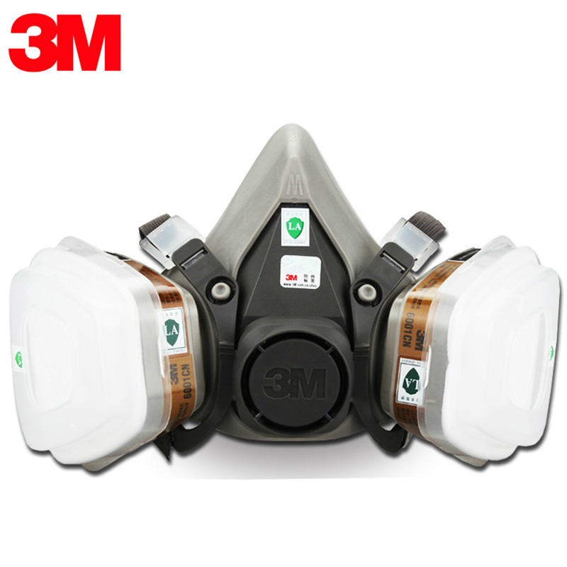 3M 6200 Half Face Respirator Dust Mask Industry Spraying Safety Face piece Gas Mask Respirator For Paintting 9 in 1 suit gas mask half face respirator painting spraying for 3 m 7502 n95 6001cn dust gas mask respirator