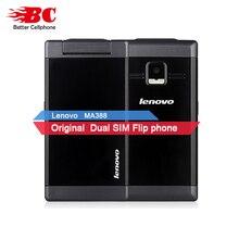 """3.5 """"D'origine Lenovo MA388 GSM Téléphone portable 480×320 FM MP3 Double Carte SIM Double Veille 0.3MP Caméra Bluetooth Vieil Homme Téléphone portable"""