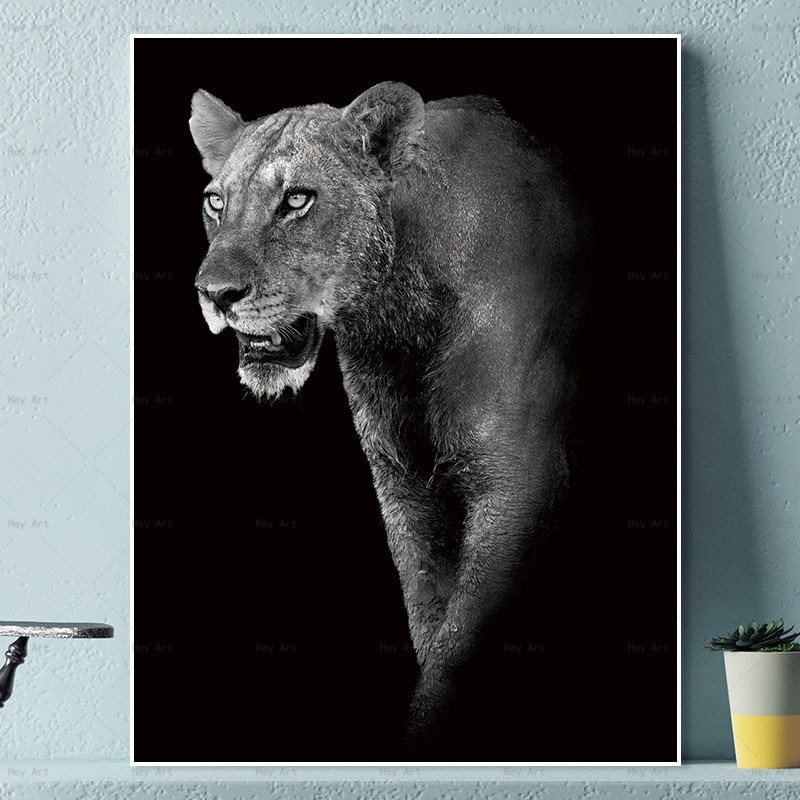 Canvas Paintings Black White Abstract Art Prints Animals Pictures Wall Poster Painting Home Decoration for Living Room in Painting Calligraphy from Home Garden