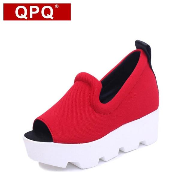 qpq et nouvel ascenseur chaussures femme du printemps et qpq de l'été de la plate - forme coréenne 62b2a2
