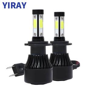 YIRAY 4 боковые COB 72 Вт 16000lm Автомобильные фары светодиодные лампы H4 H7 H11 9005 9006 5202 9003 9004 9012 Автомобильные светодиодные фары Противотуманные фары ...
