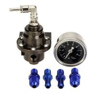 High Performance Car Fuel Pressure Gauge Adjustable Fuel Pressure Regulator Titanium